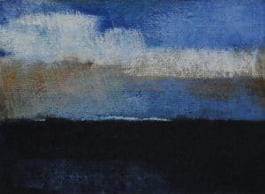 abstrakte Malerei, Strukturen, Landschaft, Nordsee, Meer, Himmel